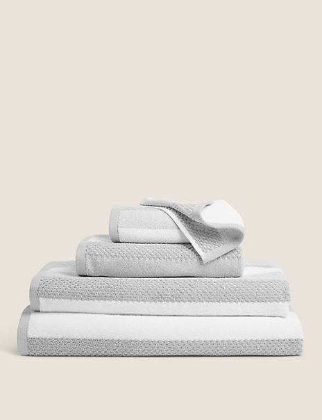 Cotton Textured Stripe Towel