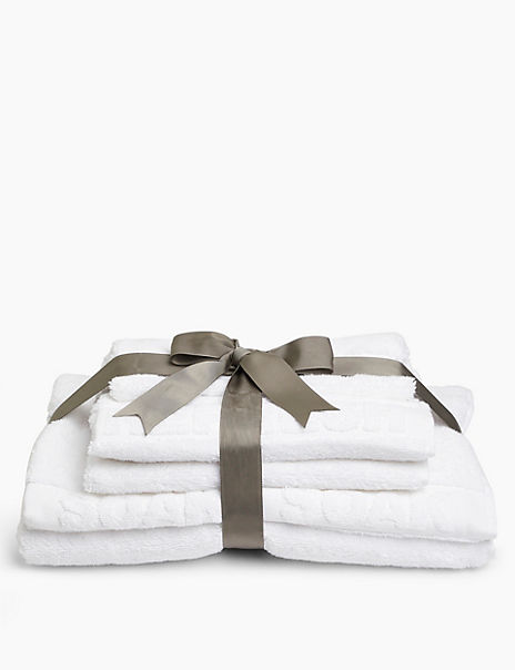 Embossed Cleanse, Refresh & Soak Towel Gift Pack