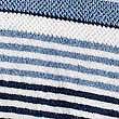 Striped Spa Towel, NAVY, swatch
