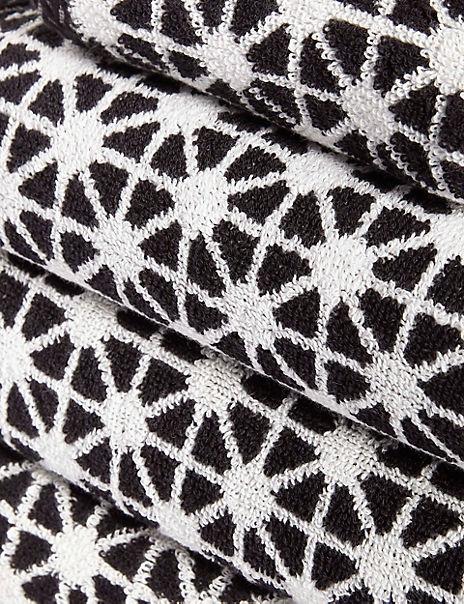 Geometric Print Star Towel