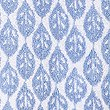 Lightweight Leaf Print Towel, BLUE MIX, swatch