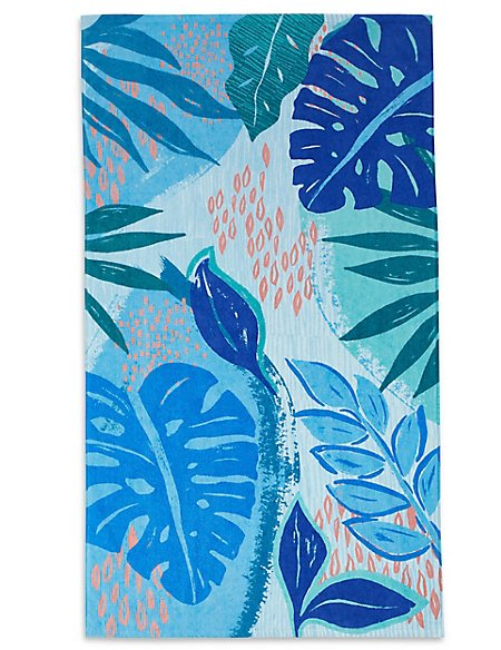 Abstract Floral Print Beach Towel