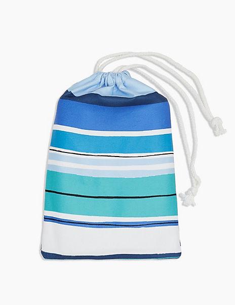 Multi Stripe Microfibre Beach Towel