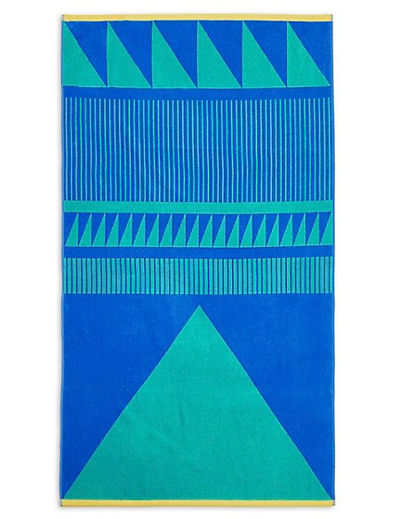 Block Geometric Beach Towel