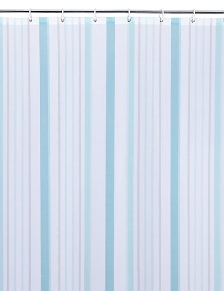 Thin Stripe Nautical Shower Curtains