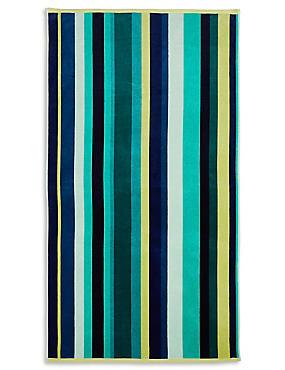 Multi Stripe Sand Resist Beach Towel