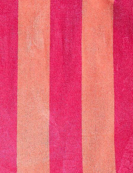 Velour Wide Stripe Beach Towel
