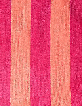 Velour Wide Stripe Beach Towel