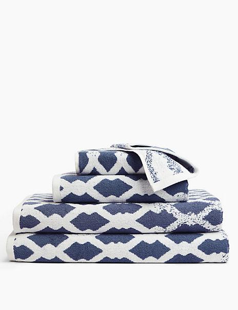 Pure Cotton Coastal Rope Pattern Towel