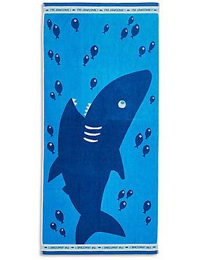 Shark Print Kids Beach Towel