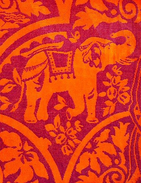 Elephant Print Beach Towel