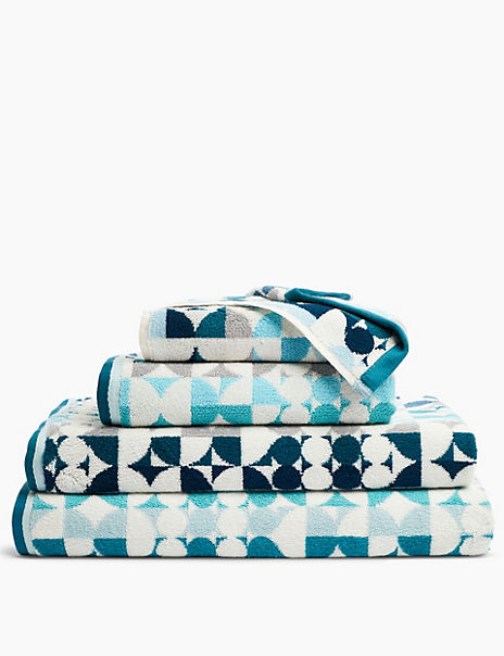 Cotton Multi Circular Print Towel