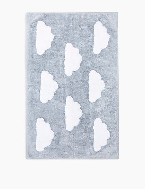 Cotton Cloud Pattern Bath Mat