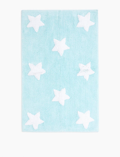 Cotton Star Pattern Bath Mat