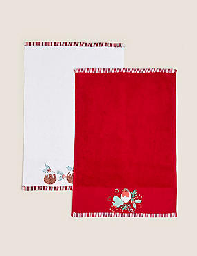 Set of 2 Christmas Pudding Towels