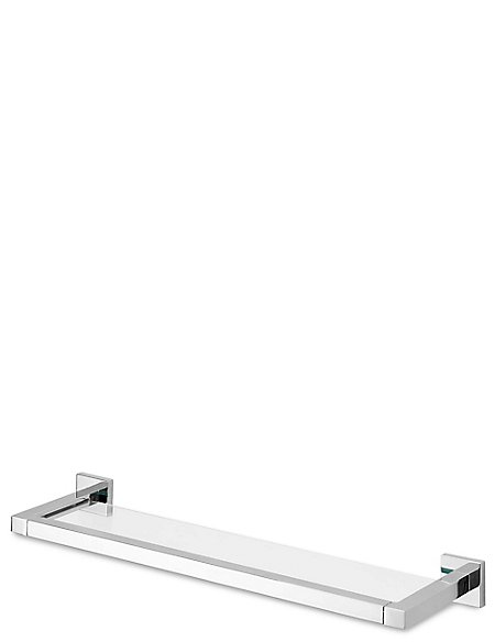 Square Chrome Glass Shelf