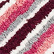 Quick Dry Striped Bath & Pedestal Mats, DARK CRIMSON, swatch