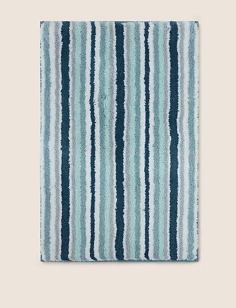 Super Soft Quick Dry Stripe Bath Mat