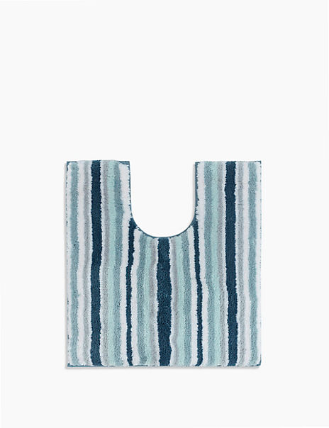 Super Soft Quick Dry Stripe Pedestal Mat