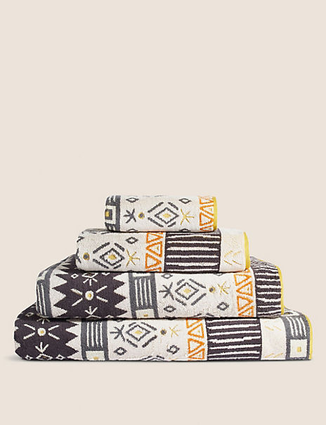 Abstract Geometric Towel with StayNEW™