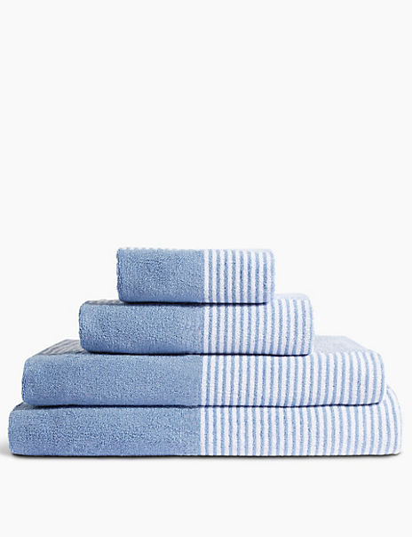 Pure Cotton Grid Towel with StayNEW™