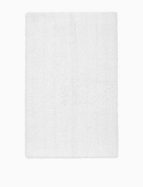 Cotton Ribbed Bath Mat