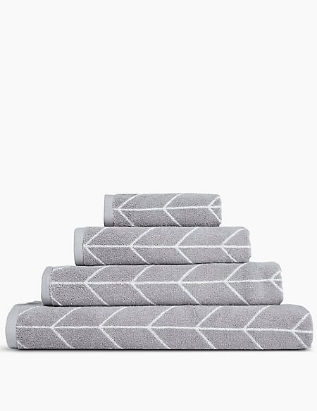 Modern Geometric Print Towel