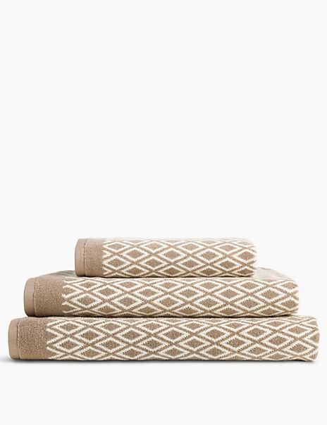 Cotton Diamond Jacquard Towel
