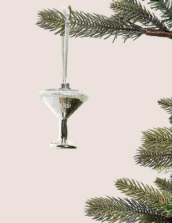 Κρεμαστό στολίδι δέντρου ποτήρι μαρτίνι