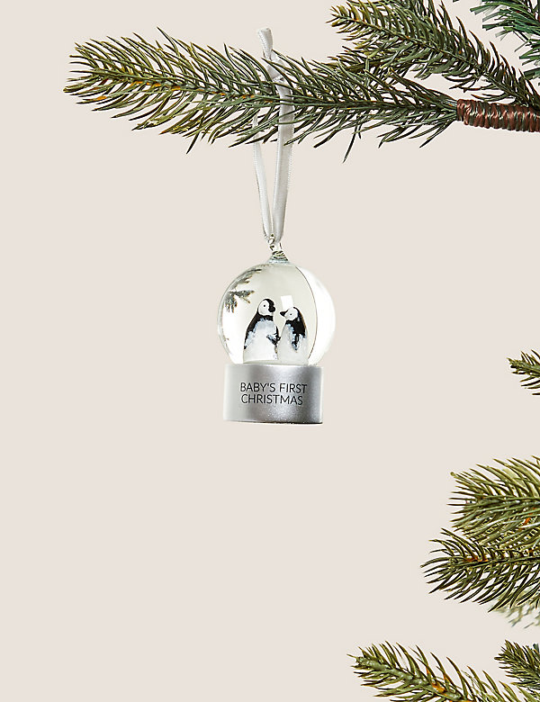 Baby's First Christmas Snowglobe Bauble