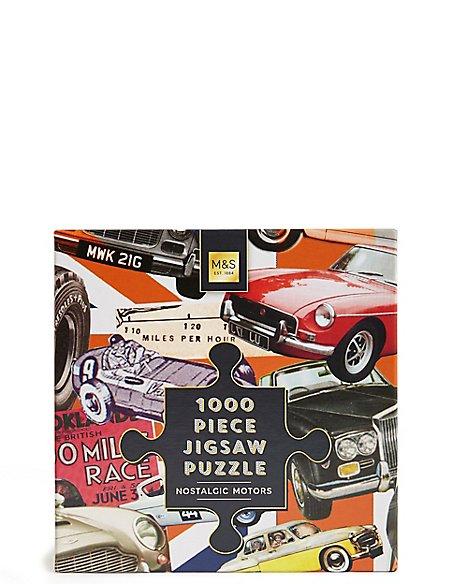 1000 Piece Jigsaw Puzzle Nostalgic Motors
