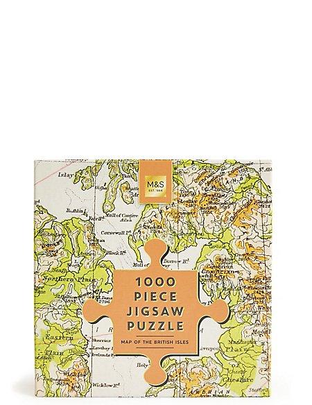 1000 Piece Jigsaw Puzzle British Isles Map