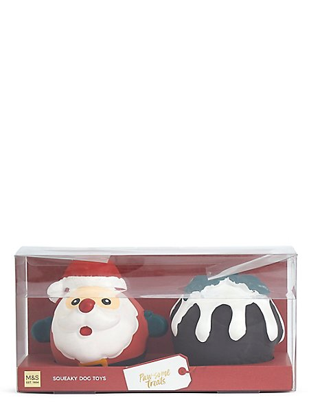 Dog Toy Pudding & Santa Set