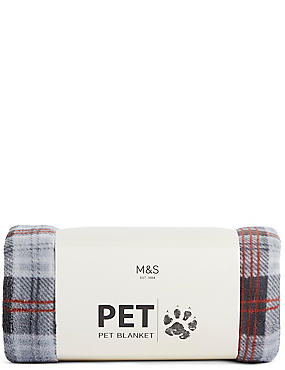 Pet Check Printed Blanket, , catlanding