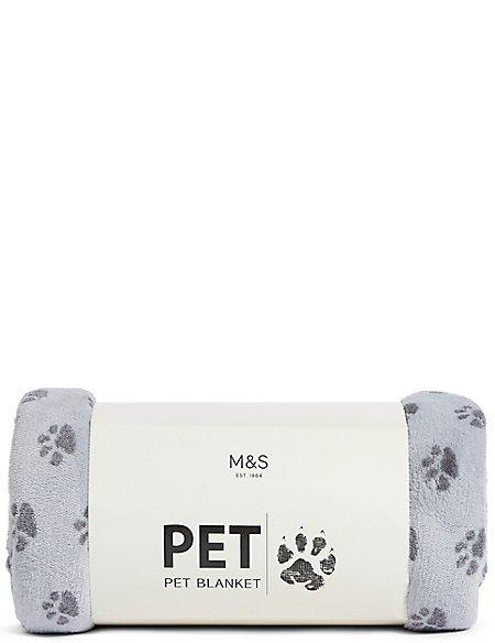 Pet Paw Printed Blanket