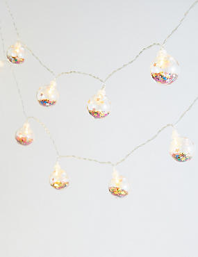 12 Trapped Glitter Bauble Lights