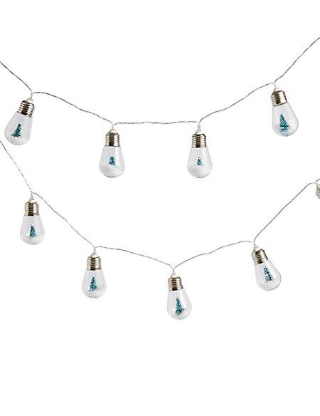 16 Snowy Tree Bulb Decorative Lights