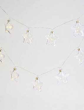 20 Clear Star Decorative Lights