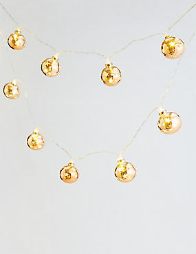 12 Bronze Star Bauble Lights