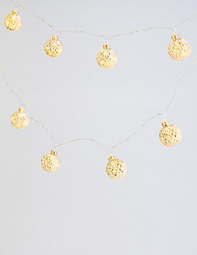12 Faceted Bauble Lights