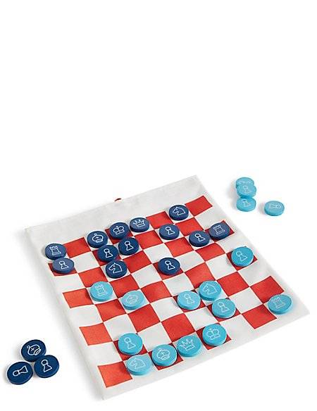 Travel Chess & Draughts Game