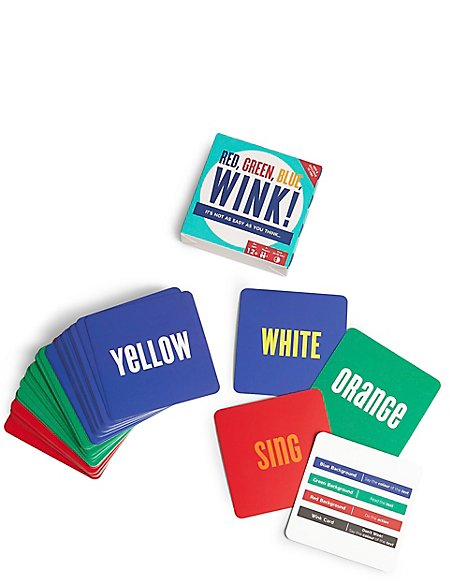 Red Green Blue Wink Card Game