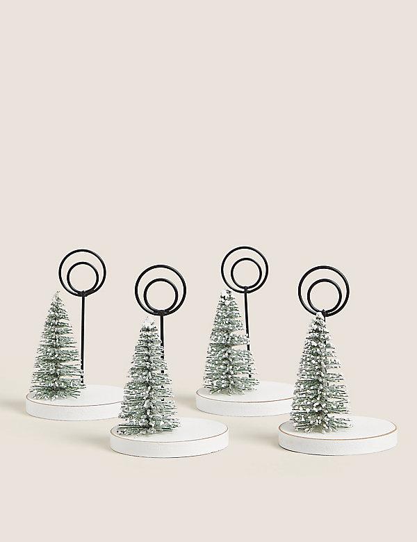 Χριστουγεννιάτικα δεντράκια για σημειώσεις σε σετ των 4