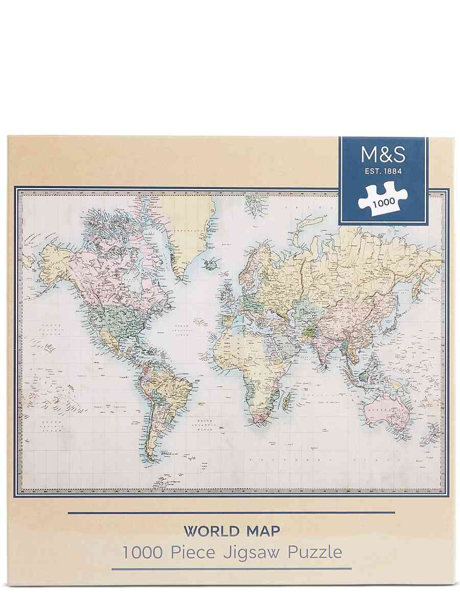 World Map 1000 Piece Jigsaw Puzzle | M&S
