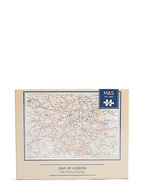Map of London 500 Piece Puzzle, , catlanding