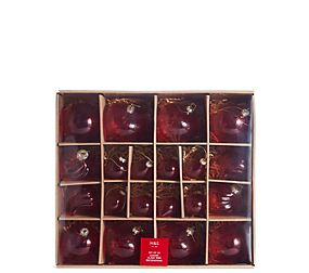 20 Pack Red Studio Glass Baubles