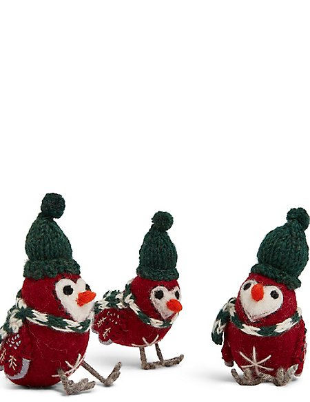 3 Pack Robin Character Baubles