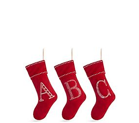 Red Alphabet Stocking