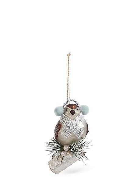 Glass Bird On Branch