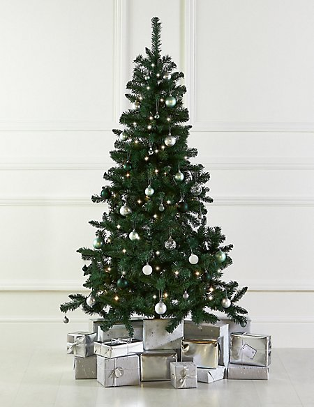 6Ft Tree, Green Bauble & Lights Bundle
